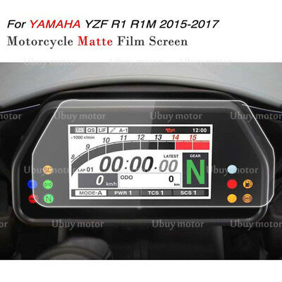 Yamaha YZF R1 R1M R1S 2015-2017 Cluster Scratch Protection Film Screen Protector
