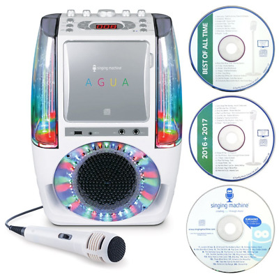 Singing Machine Dancing Water Fountain Bluetooth Karaoke System with Wired Mic