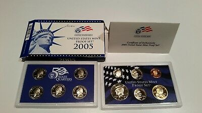 2005 11 Piece United States Mint Proof Set (with COA!)