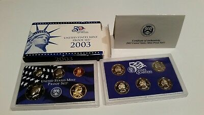 2003 10 Piece United States Mint Proof Set (with COA!)