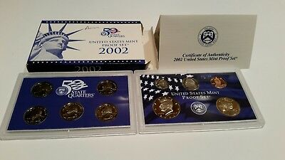 2002 10 Piece United States Mint Proof Set (with COA!)