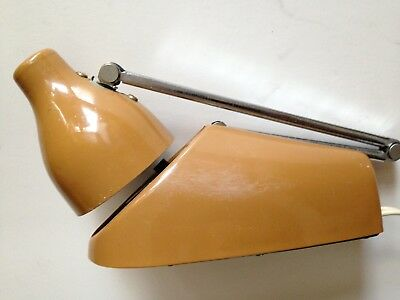 Vintage Mid Century Industrial metal folding Desk Lamp folding arm