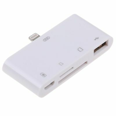 4 in 1 USB Card Reader Micro SD Camera Link Adapter for iPad iPhone X 8 7 6S AU