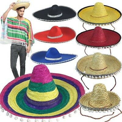 8c08064b147c1 Mexican Sombrero Hat Child Adult Sizes Mariachi Band Spanish Festival Party