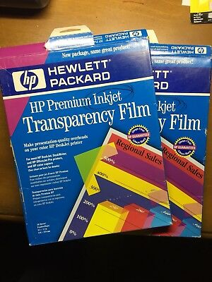 HP Premium Inkjet Transparency Film 50 Sheets + 25 extra = 75 sheets!