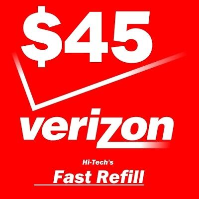 $45 Verizon > Fastest <  Refill Re-Up Electronic Online Refill