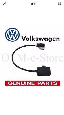 VW Audi iPhone 5,6,7 Music Interface Cable OEM