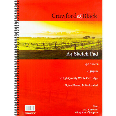 Crawford And Black A4 Sketchbook, Art & Craft, Brand New