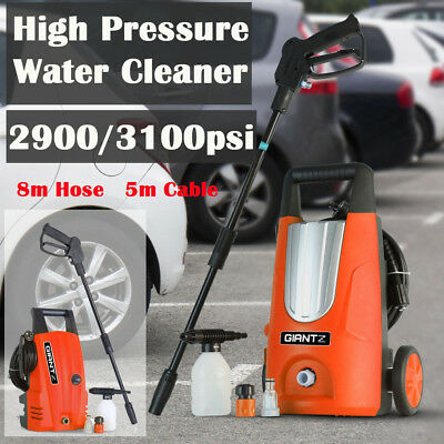 2900/3100 PSI High Pressure Water Cleaner Washer Electric Pump 8m Hose Gurney AU
