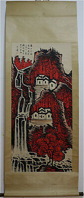 Excellent Chinese 100% Hand Painting & Scroll Landscape By Li Keran 李可染 FM0988