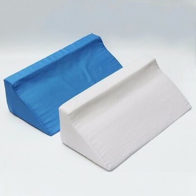 Foam Bed Wedge Pillow Back Leg Elevation Cushion Washable Removable Cover 2Color