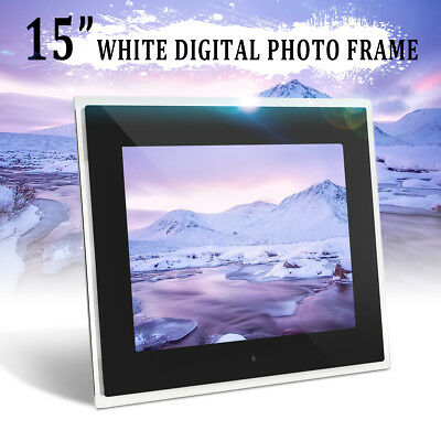 15'' HD Digital LED Frameless Picture Photo Frame Movie MP4 Player & 2GB Card
