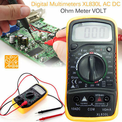 LCD Digital XL 830L Multimeter Voltmeter Ammeter AC/DC/OHM Volt Measurer Tester