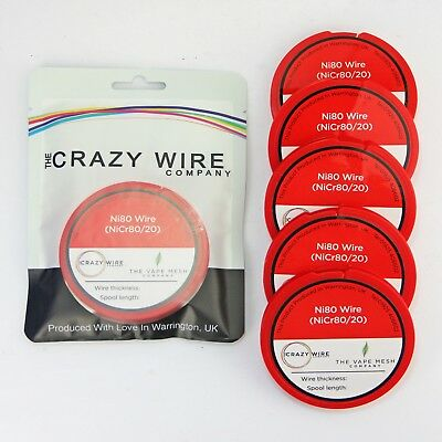 NI80 Nichrome 38 Gauge AWG (0.1mm) Resistance Wire- 1000' Roll - 139.87 ohms/m