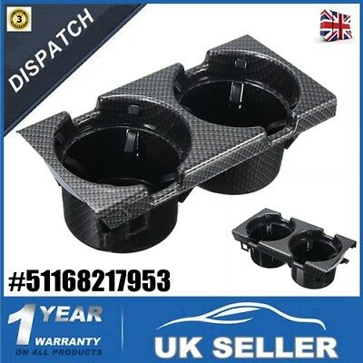 Front Center Console Can Drink Cup Holder Carbon For Bmw 3Series E46-51168217953