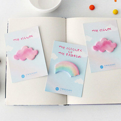 Creative Watercolor Rainbow Cloud Sticky Notes Memo Pad Planner-Stickers Hot