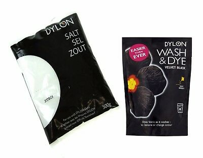 Velvet Black 350g Dylon Wash & Dye Machine Hand Dye Color Restorer Revive Dark