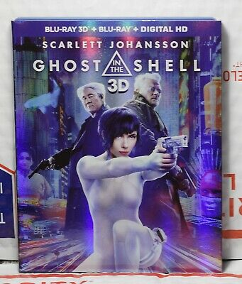 New Ghost In The Shell On 3D+2D Blu-Ray+Digital Hd Ultraviolet! Factory Sealed