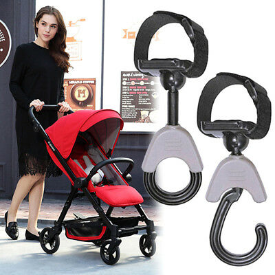 Hook and Stroll Pram/Stroller/Buggy Clips/Hooks 2 PACK Universal