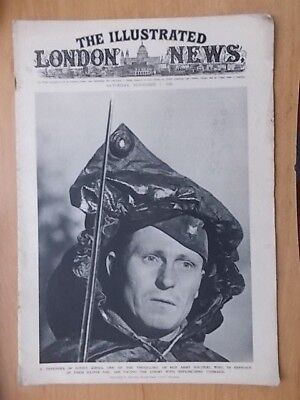 WWII ILLUSTRATED LONDON NEWS - NOVEMBER 1st 1941 - MINE LAYING CREW