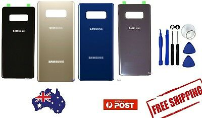 Samsung Galaxy Note 8 9 Back Glass Replacement Housing Battery Door Cover Case