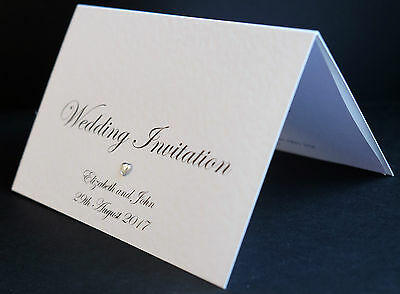 10 Wedding Invitations / Evening Invites Handmade & Personalised incl. Envelopes