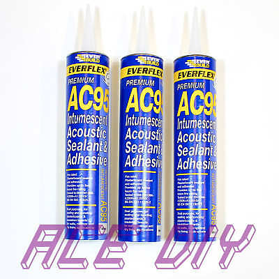 Everflex AC95 Intumescent Acoustic Acrylic Fire Seal & Bonding Adhesive 900 ml