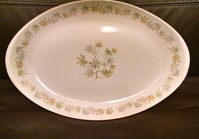 Amcrest Meito Fine China Oriental Maple Oval Platter