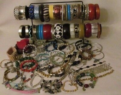 Awesome Lot Of 110+  Assorted Vintage/ Now Bracelets /wear/resell Lot #423