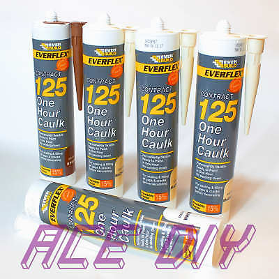 Everbuild 125 One Hour Caulk C3 | Fast Drying Decorators Flexible Sealant Filler