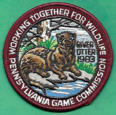 """Pa Pennsylvania Game Fish Commission NEW 1983 ORIGINAL WTFW River Otter 4"""" Patch"""
