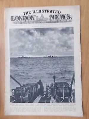WWII ILLUSTRATED LONDON NEWS - MARCH 29th 1941 - U.S. LIBERATOR BOMBERS AIRCRAFT