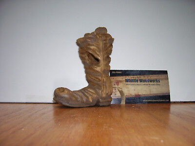 Carved Wooden Cowboy Boot
