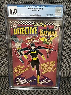 Detective Comics #359, CGC, 6.0/Fine, 1st App & Origin Batgirl, Hot Book