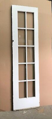 "Antique Glass Paneled Door 23-1/4""x 87-1/8"" x 1-1/4""- Vintage- Reclaimed"