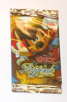WIZARDS OF MICKEY: 1 BUSTINA - LEGGENDE VOL.1 in ITALIANO - CONTIENE 5 CARTE