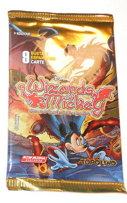 WIZARDS OF MICKEY: 1 BUSTINA - LE ORIGINI in ITALIANO - CONTIENE 9 CARTE