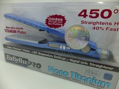 "BaByliss PRO Nano Titanium 1 3/4"" Flat Iron Hair Straightener 450° New In Box"