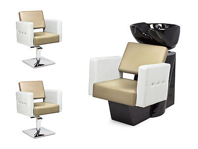 SALON HAIRDRESSING STYLING FURNITURE SETS Backwash  Styling Chairs VERONA
