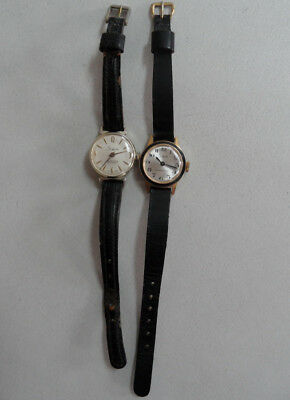 Lot of (2) Vintage Sheffield Watches Swiss Made M1 Shock Resistant Anti Magnetic
