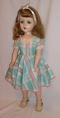 American Character Sweet Sue walker doll walker 20 inches pink blue plaid dress