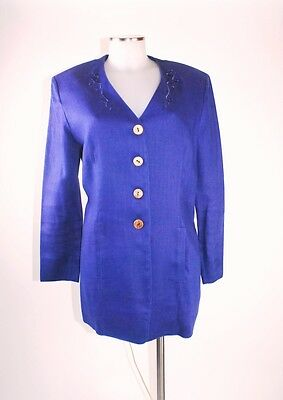 Geiger Traditional Jacket 38 Blue Blazer in Pure Canvas Mint Condition