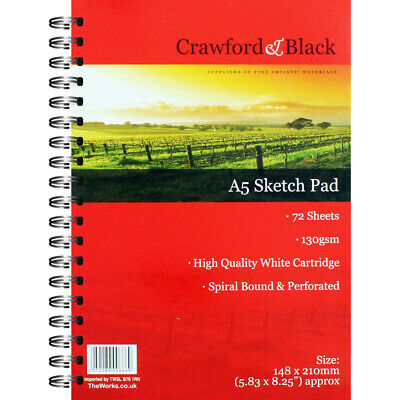 Crawford And Black A5 Sketch Pad, Art & Craft, Brand New