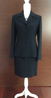 TAILLEUR DONNA / WOMAN PIANOFORTE BY MAX MARA NERO Tg 42 Made In ITALY