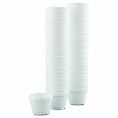 Case of (100) Dart 4J6  4 oz. White Foam Bowl Cup Food Containers Hot or Cold