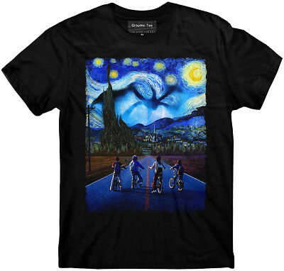 Stranger Things t-shirt, Starry Night t-shirt, Demogorgon, Eleven, Steve t-shirt