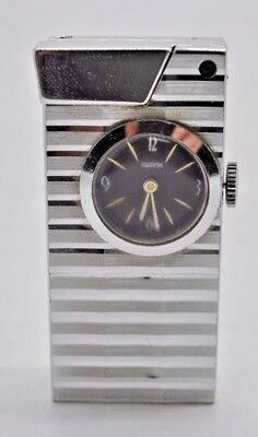 Vintage Rare Old Collectible Rivo By Swank Swiss Made Watch Lighter