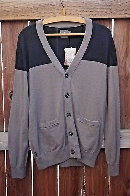 Mens Hawking McGill Urban Outfitters UO Gray Black Sweater NWT S M Long Sleeve