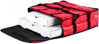 Insulated Pizza Delivery Bag Food Transport Restaurant Pizzeria Red (Pack of 5)