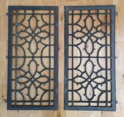 Antique Metal Grates / Grills, Salvaged , Industrial, Stove , Heater